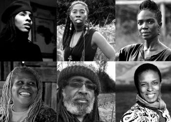 Collage of Black leaders speaking about liberation, land justice, and food sovereignty for Black communities. Photos courtesy of A Growing Culture.