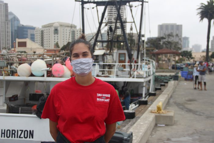 Jordyn Kastlunger, 23, is one of the lead organizers of the Tuna Harbor market. (Photo by Mark Armao)