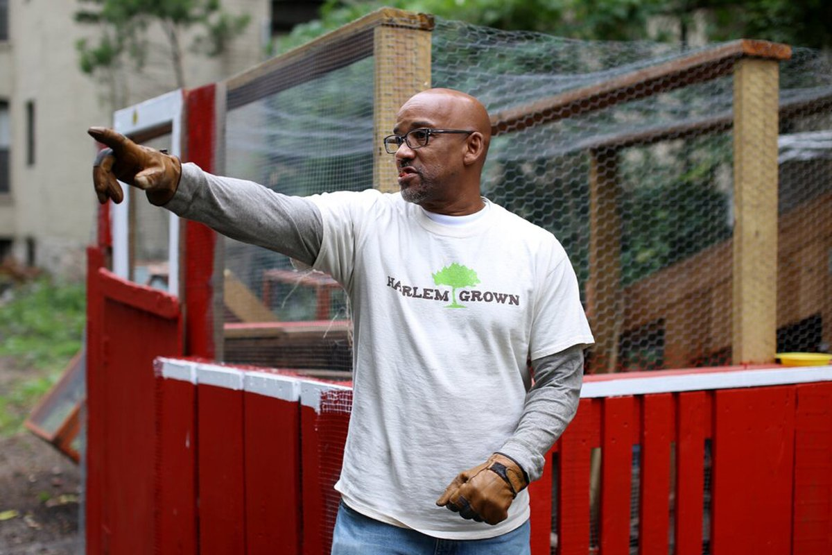 Harlem Grown's Tony Hillery. (Photo courtesy of Harlem Grown)