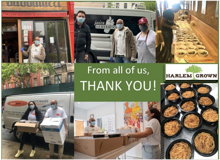 A thank you from Harlem Grown for their gofundme.