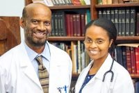 Marlo Paul, M.D. (right), and Anthony Paul, Ph.D.