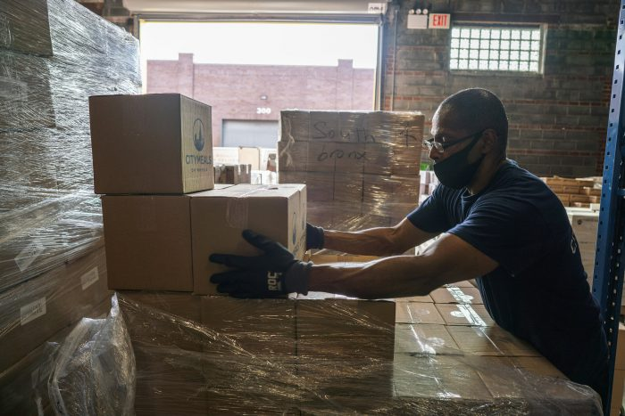 Boxes of food aren't just inanimate objects, they're care packages for hungry individuals struggling to stay safe. Each one was headed to a person in need.