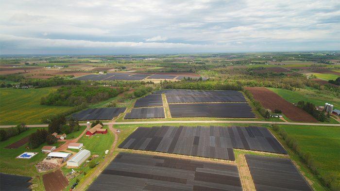 An overhead view of the Hsu Ginseng Enterprise fields