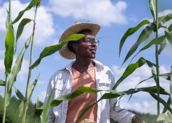 Dallas Robinson at the Harriet Tubman Freedom Farm in Nash County, N.C. (Photo © Hanna Wondmagegn)