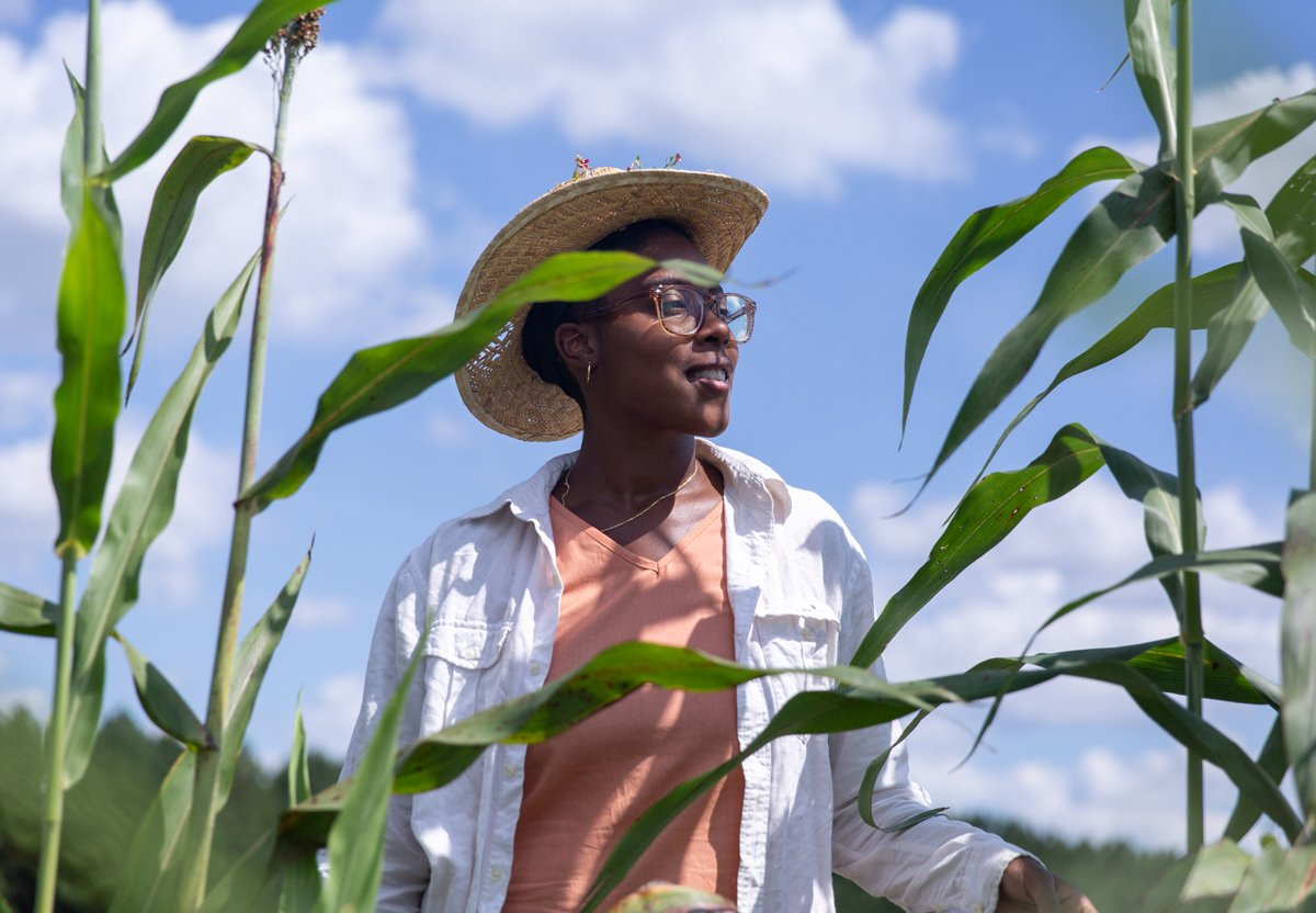 Dallas Robinson at the Harriet Tubman Freedom Farm in Nash County, N.C. (Photo © Hanna Wondmagegn)