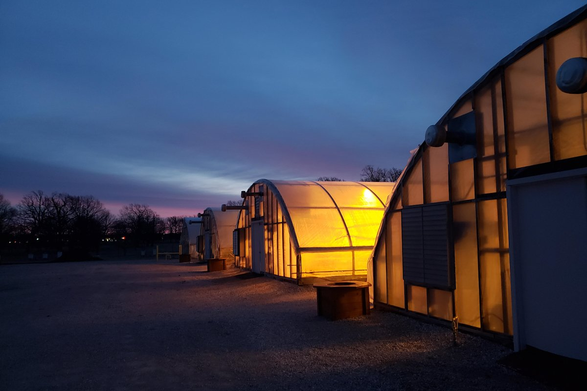 The greenhouses at Downstream Casino Resort. (Photo credit: Quapaw Nation)