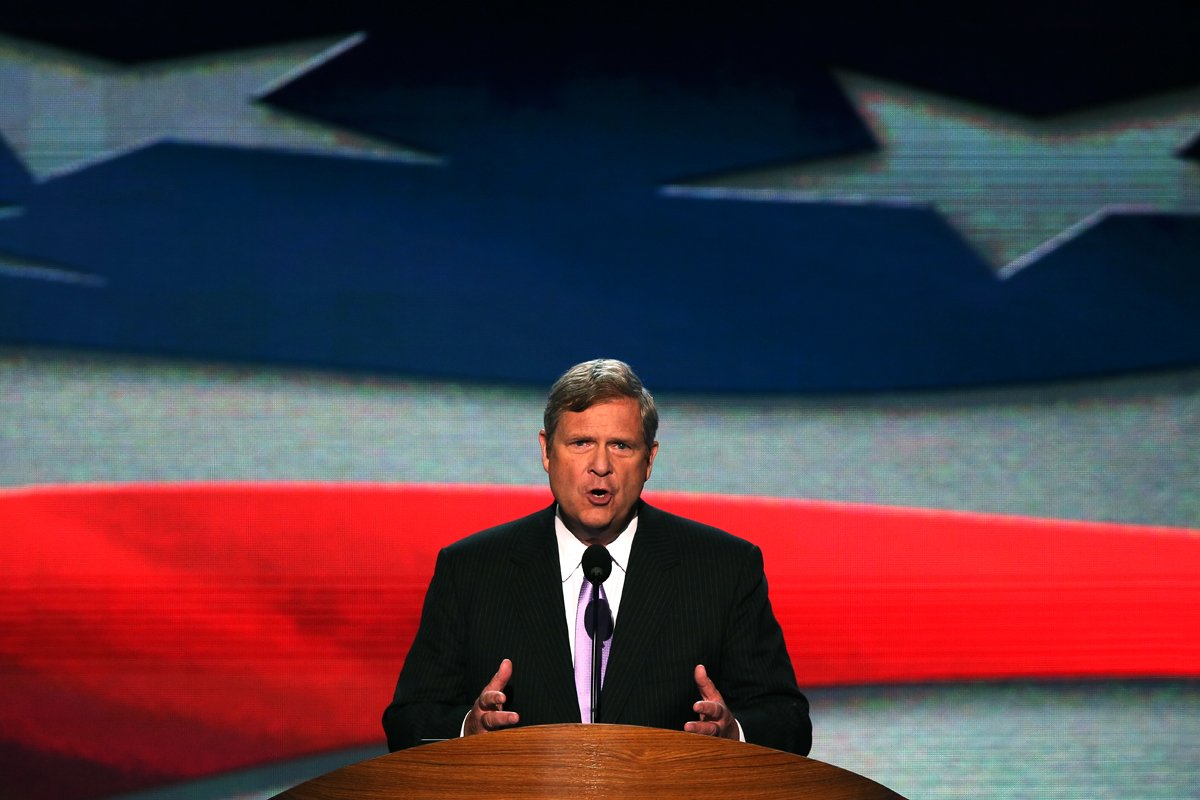 Tom Vilsack speaks during day two of the Democratic National Convention at Time Warner Cable Arena on September 5, 2012 in Charlotte, North Carolina.