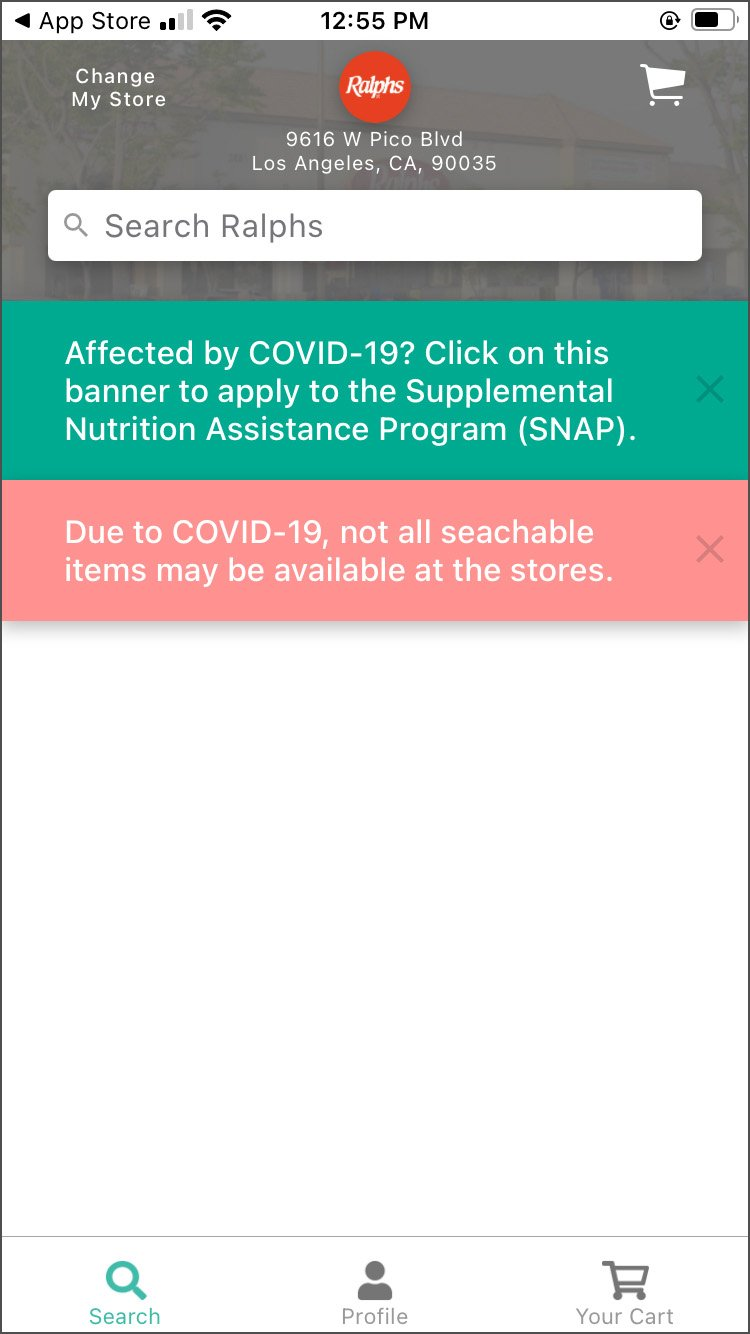 A screenshot from the Forage app shows how users can sign up to receive SNAP.