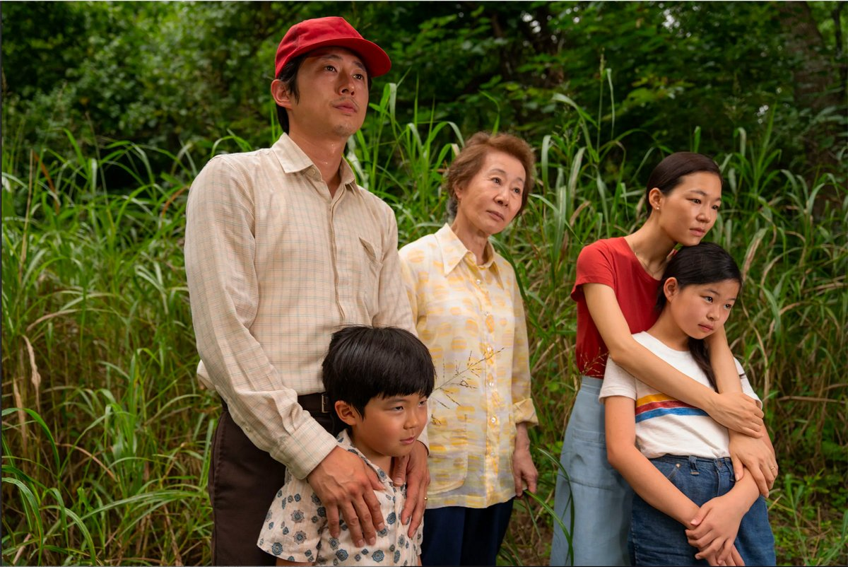 A still from the film Minari of a Korean American family. (Still courtesy of A24)