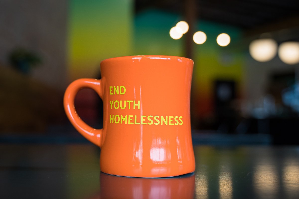 The End Youth Homelessness mug from Wildflyer