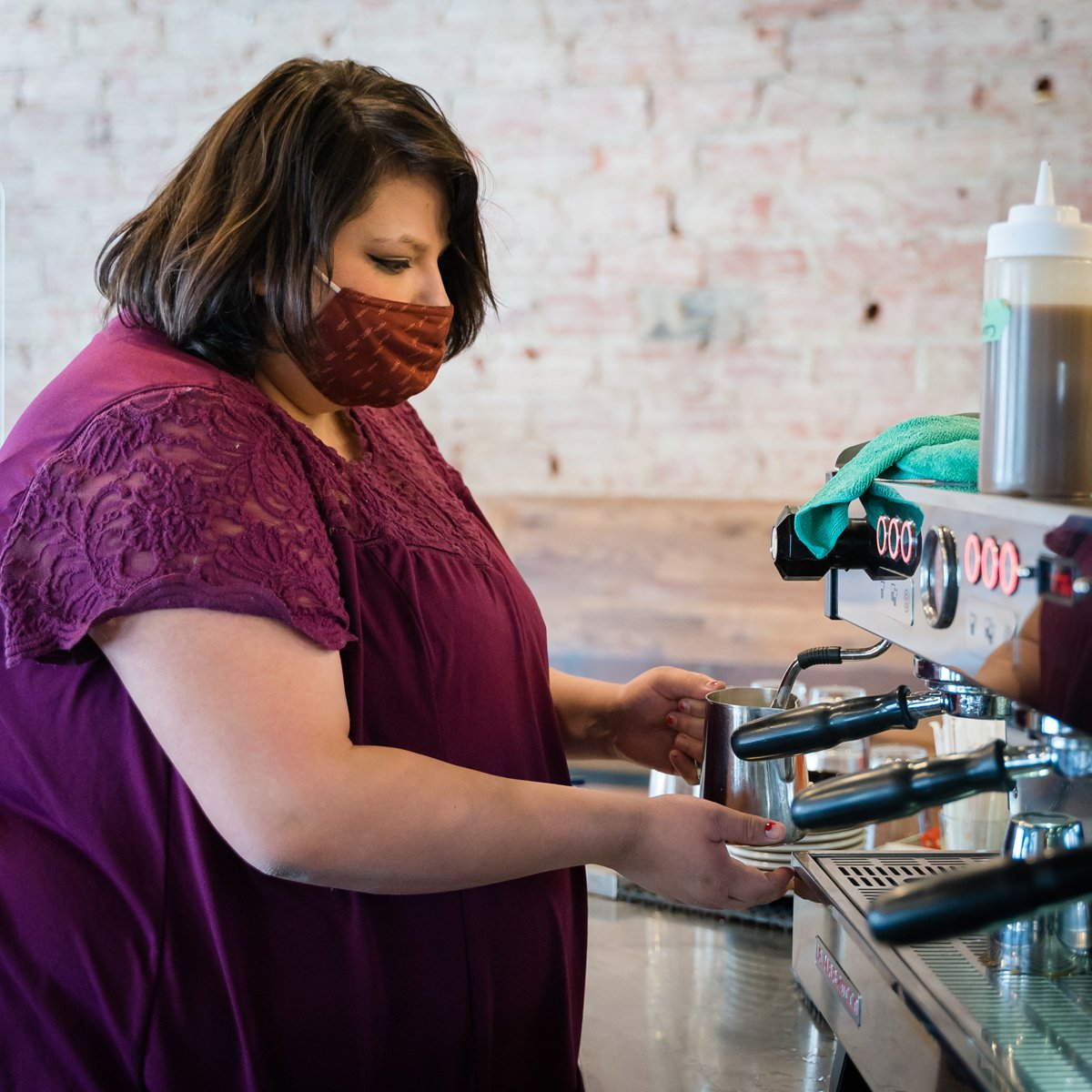 Valarie Mckenzie brews an espresso at Wildflyer Coffee. (Photo courtesy of Wildflyer Coffee)