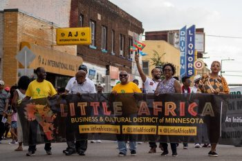 the little africa market parade put on by the aeds