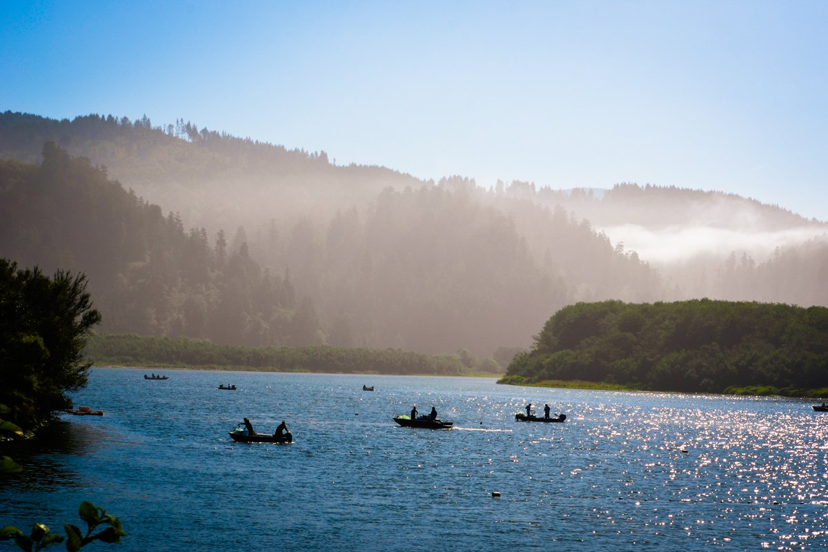 The first day of commercial fishing in 2019 on the Klamath River. (Photo courtesy of the Yurok Tribe)