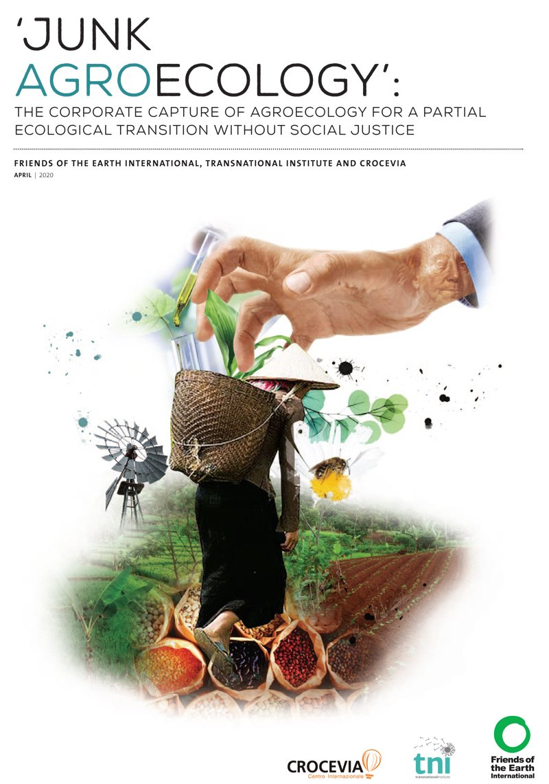 The cover of the Junk Agroecology report
