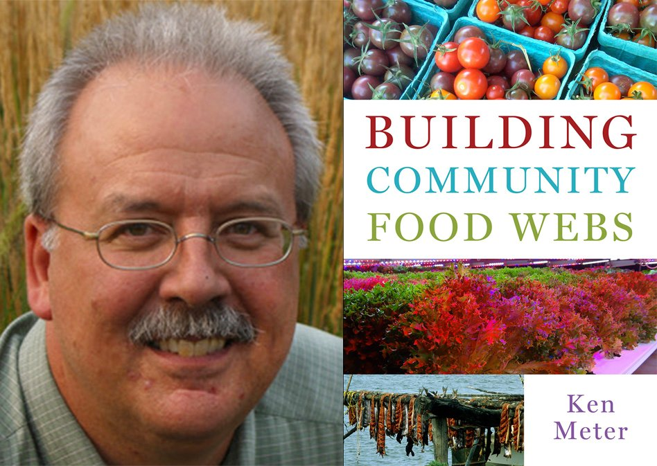ken meter, author of building community food webs, and the cover of his book