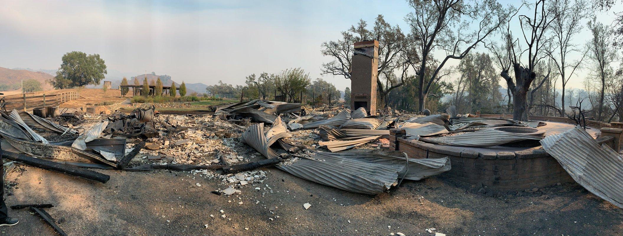 Scott Newman's farm after the fire. (Photo courtesy of Scott Newman)