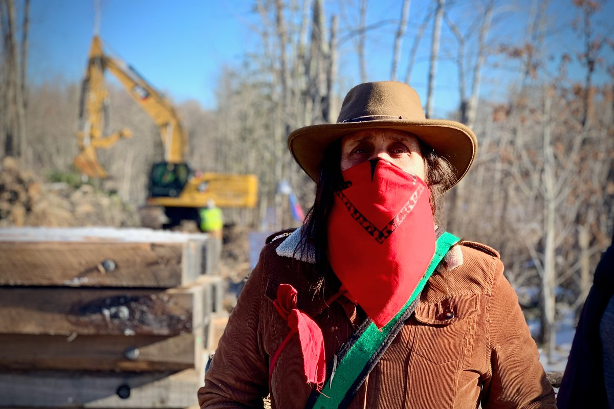 Winona LaDuke at the Mississippi River Crossing in Palisade, Minn. (Photo by Sarah LittleRedfeather, Honor the Earth)