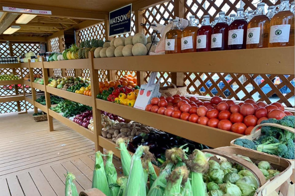 The farm stand at Perkins Orchard. (Photo courtesy of Donovan Watson)
