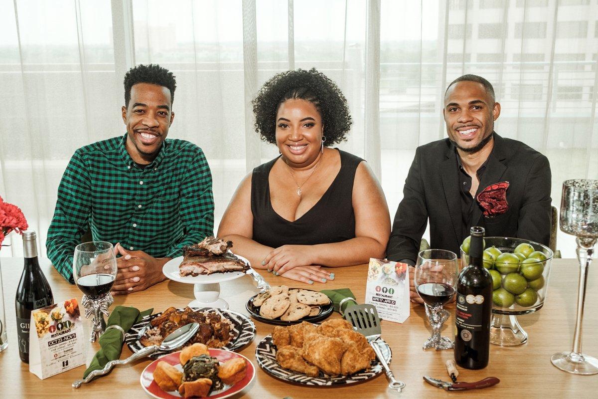 From left: Black Restaurant Week's Derek Robinson, Falayn Ferrell, and Warren Luckett. (Photo credit: Fredis Benitez)