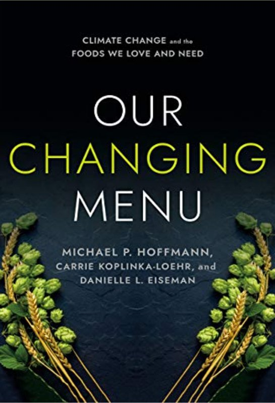 our changing menu book cover