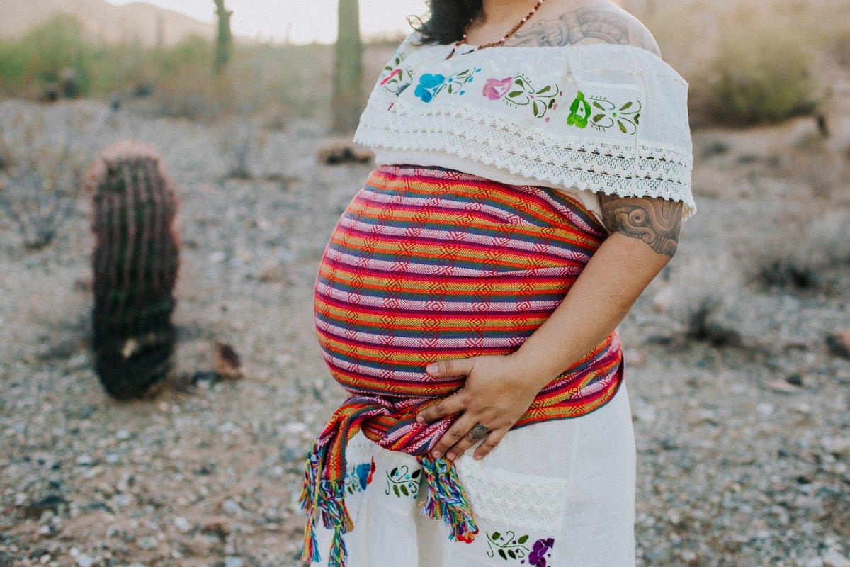 Maria Parra Cano Maternity shot. (Photo courtesy of Maria Parra Cano)