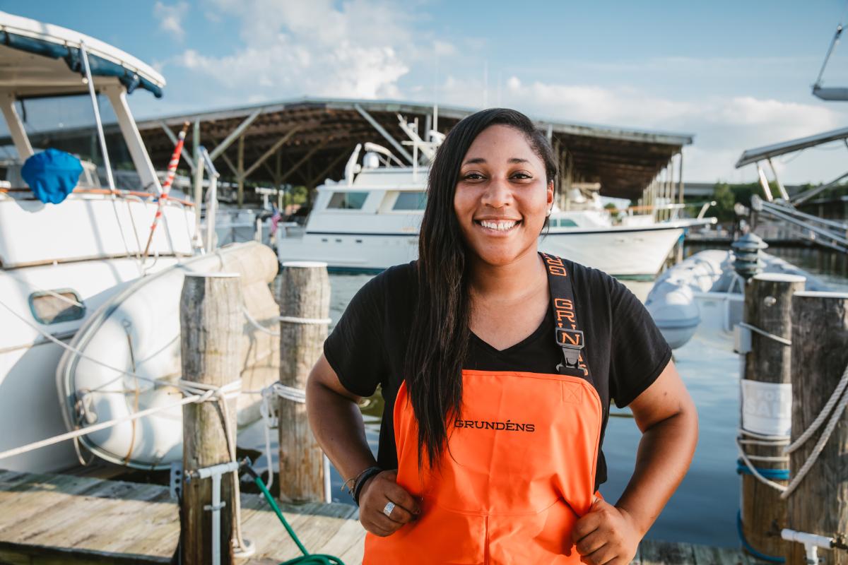 Woman in aquaculture Imani Black of Minorities in Aquaculture.