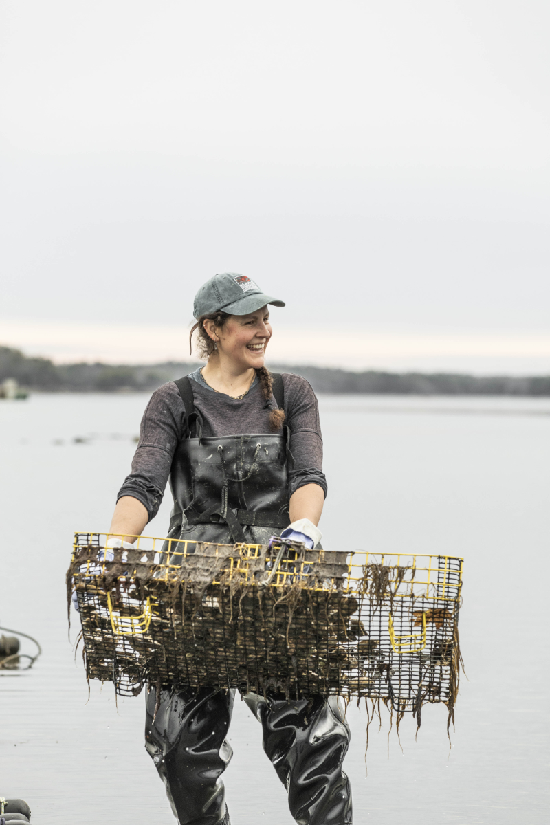 Emily Selinger, who runs Emily's Oyster, started her company in 2018 after years working as a professional mariner and sea captain aboard schooners.