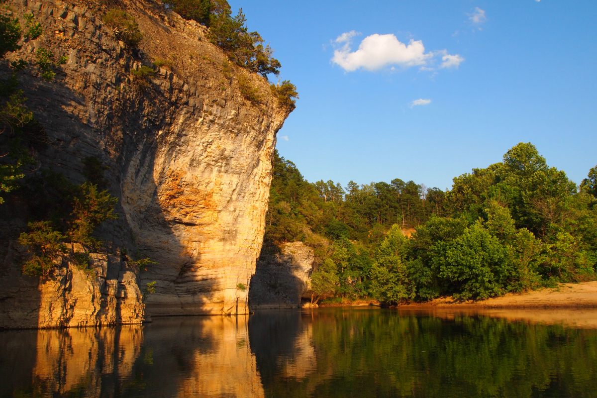 Skull Bluff, a natural landmark on the Buffalo River in northwest Arkansas. (Photo credit: Mallory Daily)