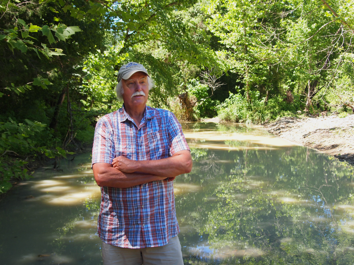 Gordon Watkins has used the Little Buffalo, a tributary of the Buffalo River, as an irrigation source for his organic farm for decades.