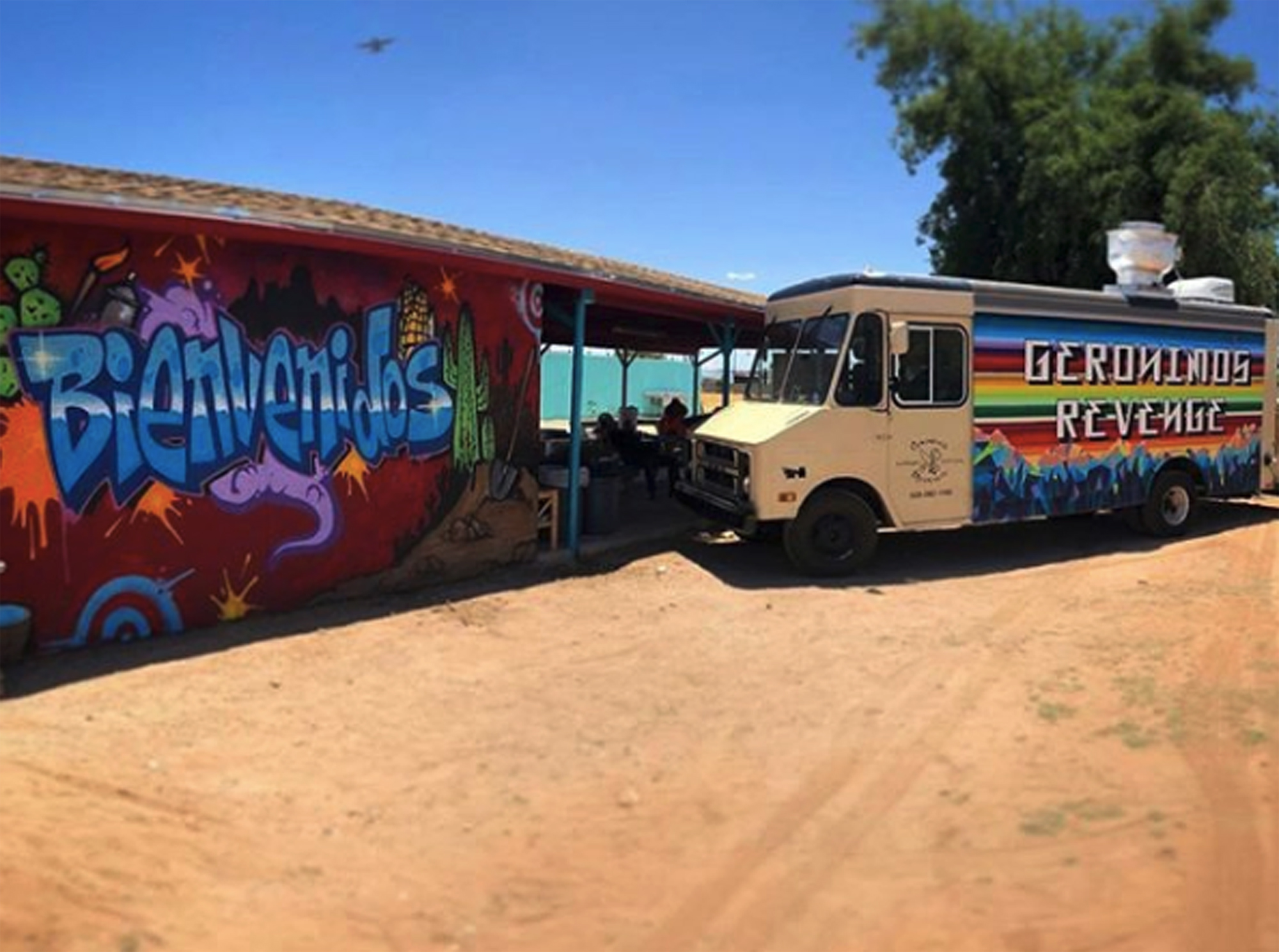 Tuscon's first locally sustainable and organic food truck sponsored by the Flowers and Bullets Collective.